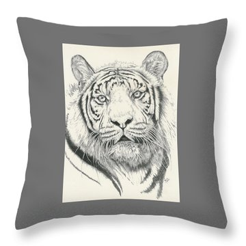 Tigerlily Throw Pillow by Barbara Keith