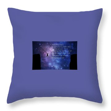 Tightrope Of Life Throw Pillow