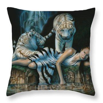 Tigress Throw Pillow
