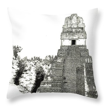 Tikal Temple I Throw Pillow