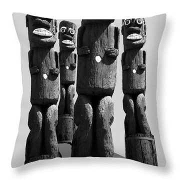 Tiki Invasion Throw Pillow by Matthew Bamberg