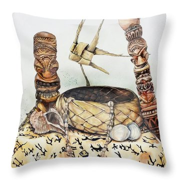 Tiki Still Life 1 Throw Pillow