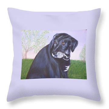 Tiko, Lovable Family Pet. Throw Pillow