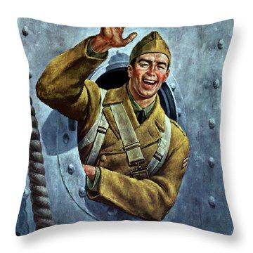 Till We Meet Again -- Ww2 Throw Pillow