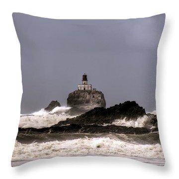 Tillamook Lighthouse Throw Pillow