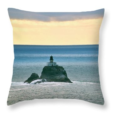 Throw Pillow featuring the photograph Tillamook Lighthouse by Suzette Kallen