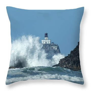 Tillamook Rock Light House, Oregon - Terrible Tilly Throw Pillow