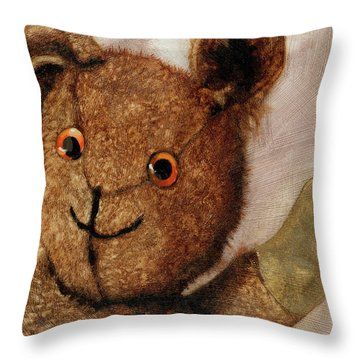 Tillie - Vintage Bear Painting Throw Pillow