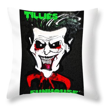Tillies Vamp Throw Pillow by Patricia Arroyo