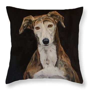 Tilly The Lurcher Throw Pillow