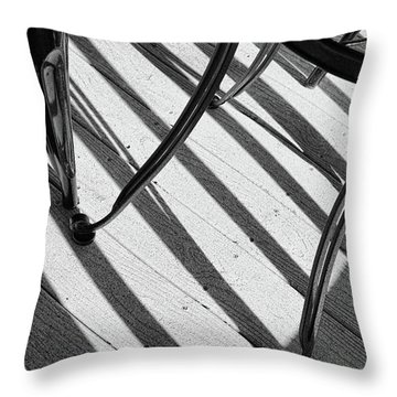 Tilt Black And White Photography Throw Pillow by Ann Powell