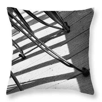 Tilt Two Black And White Photograph Throw Pillow by Ann Powell