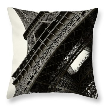 Tilted Eiffel Throw Pillow