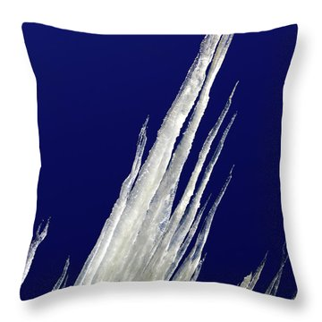 Throw Pillow featuring the photograph Tilted Ice by Shane Bechler