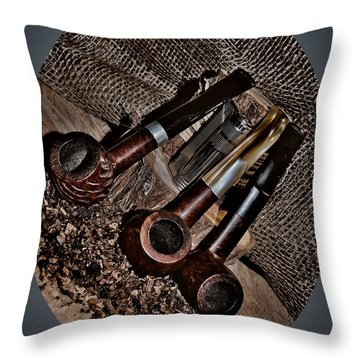 Tilted Pipes Throw Pillow