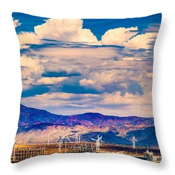 Tilting At Windmills Throw Pillow