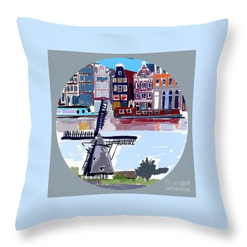 Tilting Windmills Throw Pillow