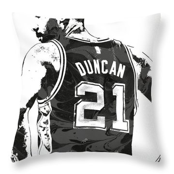 Tim Duncan San Antonio Spurs Pixel Art 2 Throw Pillow