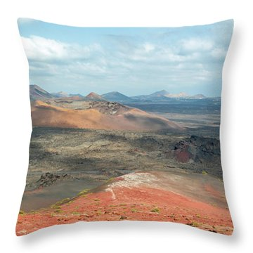 Timanfaya Panorama Throw Pillow by Delphimages Photo Creations