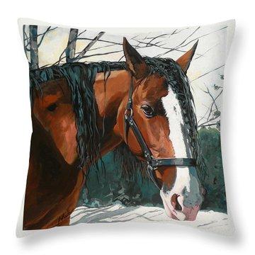 Timber Throw Pillow by Nadi Spencer