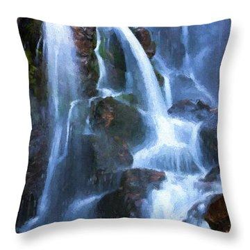 Timberline Falls Throw Pillow