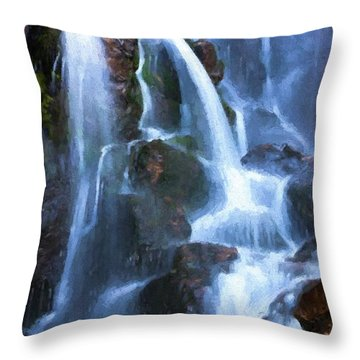 Timberline Falls Throw Pillow