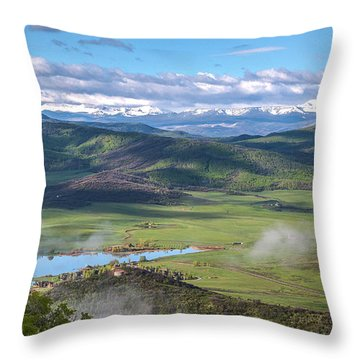 Timbers View  Throw Pillow