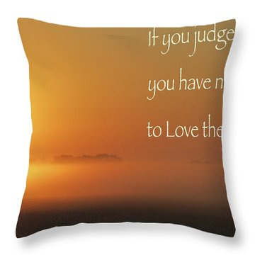 Time Adusted Throw Pillow by David Norman
