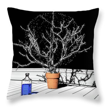 Throw Pillow featuring the digital art Time Aerials Time Aerials In A Pot by Russell Kightley
