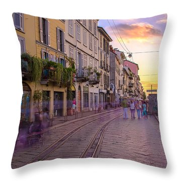 Time After Time Throw Pillow by Cesare Bargiggia