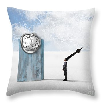 Time  Throw Pillow by Aimelle ML