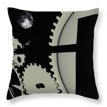 Time And Space Throw Pillow by Richard Rizzo