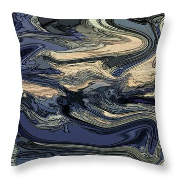 Throw Pillow featuring the digital art Time And Tide by Gina Harrison