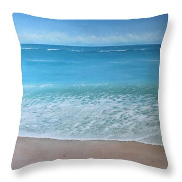 Time And Tide Throw Pillow by Paul Newcastle