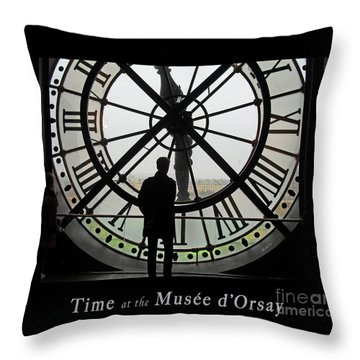 Time At The Musee D'orsay Throw Pillow by Felipe Adan Lerma
