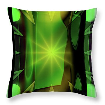Time Barrier Throw Pillow