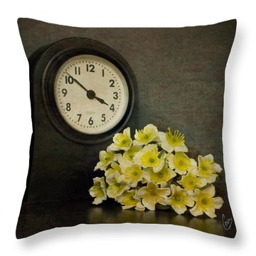 Time Throw Pillow by Cindy Garber Iverson