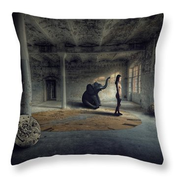 Time Factory Throw Pillow