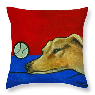 Throw Pillow featuring the painting Time For A Power Nap by Suzanne McKee