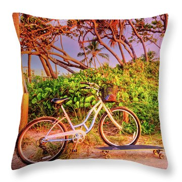 Throw Pillow featuring the photograph Time For Beach Fun by Debra and Dave Vanderlaan