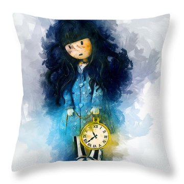 Time For Bed Throw Pillow