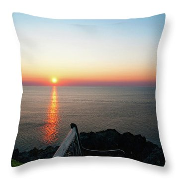 Time For Reflection... Throw Pillow by Nina Stavlund