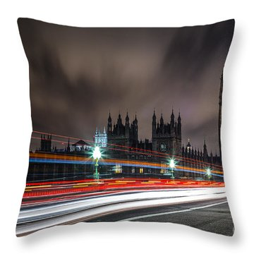 Time Throw Pillow by Giuseppe Torre