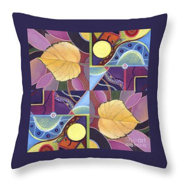 Time Goes By - The Joy Of Design Series Arrangement Throw Pillow