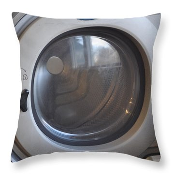 Time Machine Throw Pillow by Luke Moore