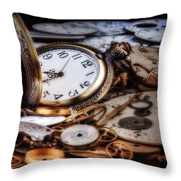 Time Machine Still Life Throw Pillow