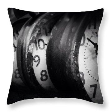 Time Multiplies Throw Pillow