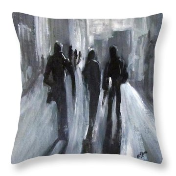 Time Of Long Shadows Throw Pillow
