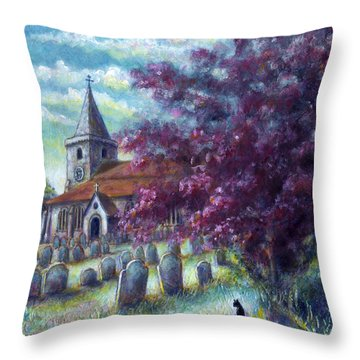 Time Our Companion Throw Pillow by Retta Stephenson