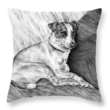 Time Out - Jack Russell Dog Print Throw Pillow